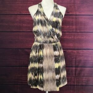 Parker Brown and Yellow Dress